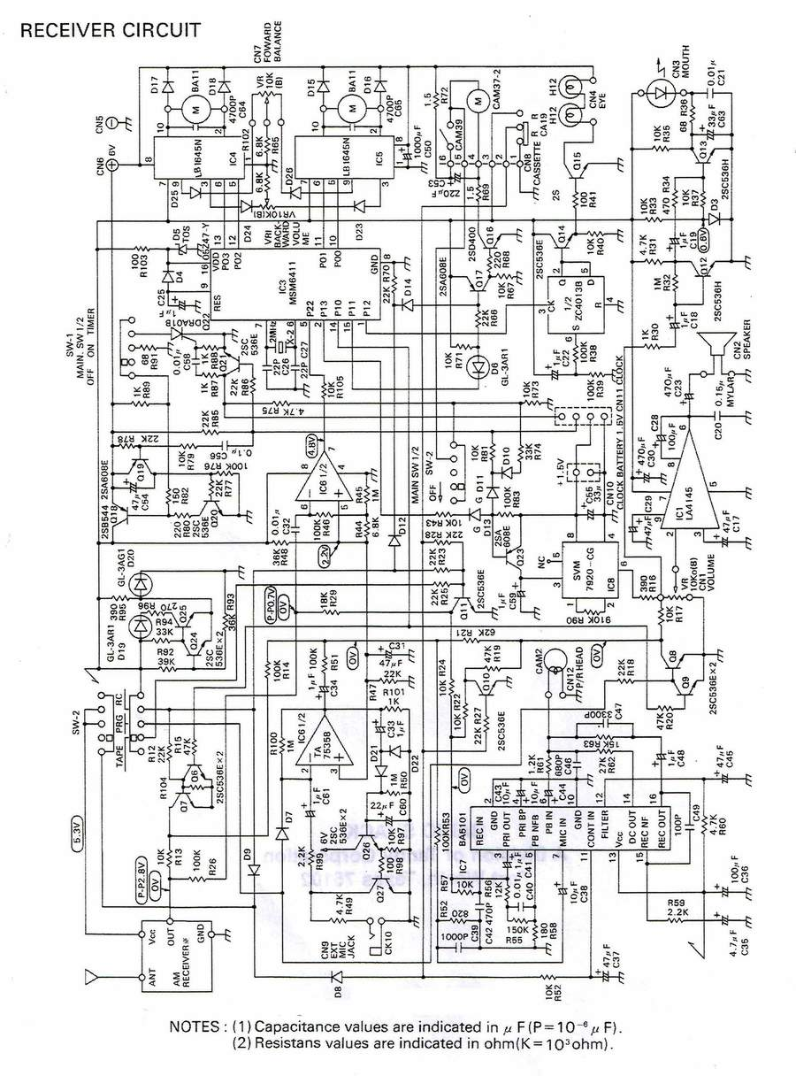 The Old Robot\'s Web Site - The Omnibot Robie Sr Circuit Board Schematics