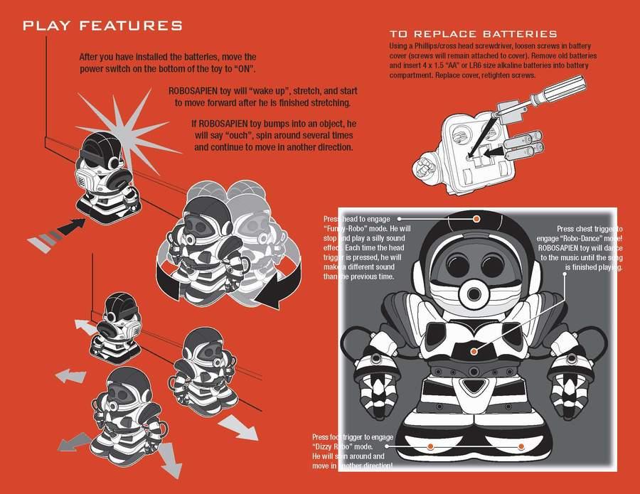 Robosapien Users Manual - Robosapien Robot - Reviews