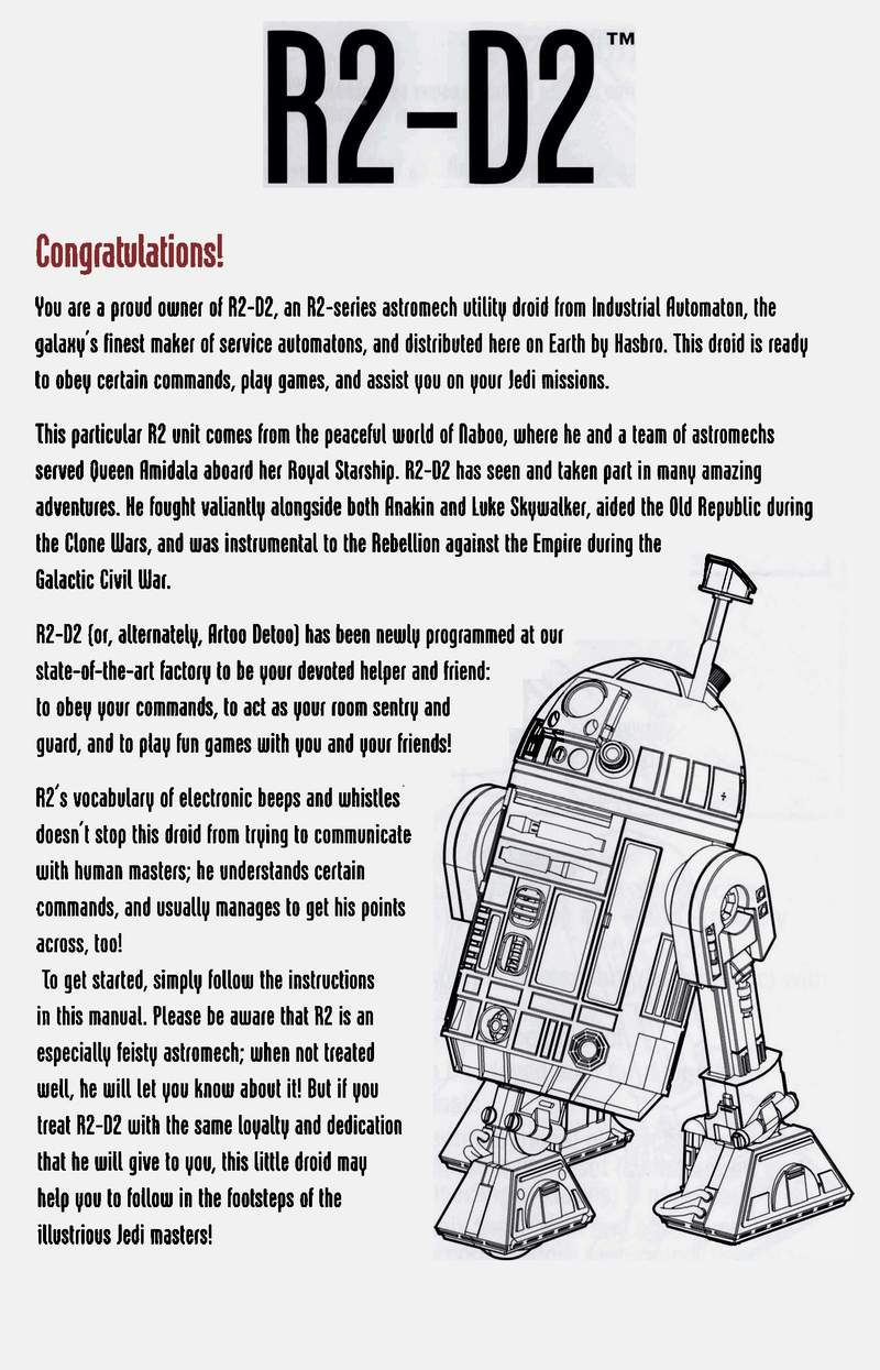 the old robots web site r2d2 droid instruction manual rh theoldrobots com User Manual Guide droid user manual verizon