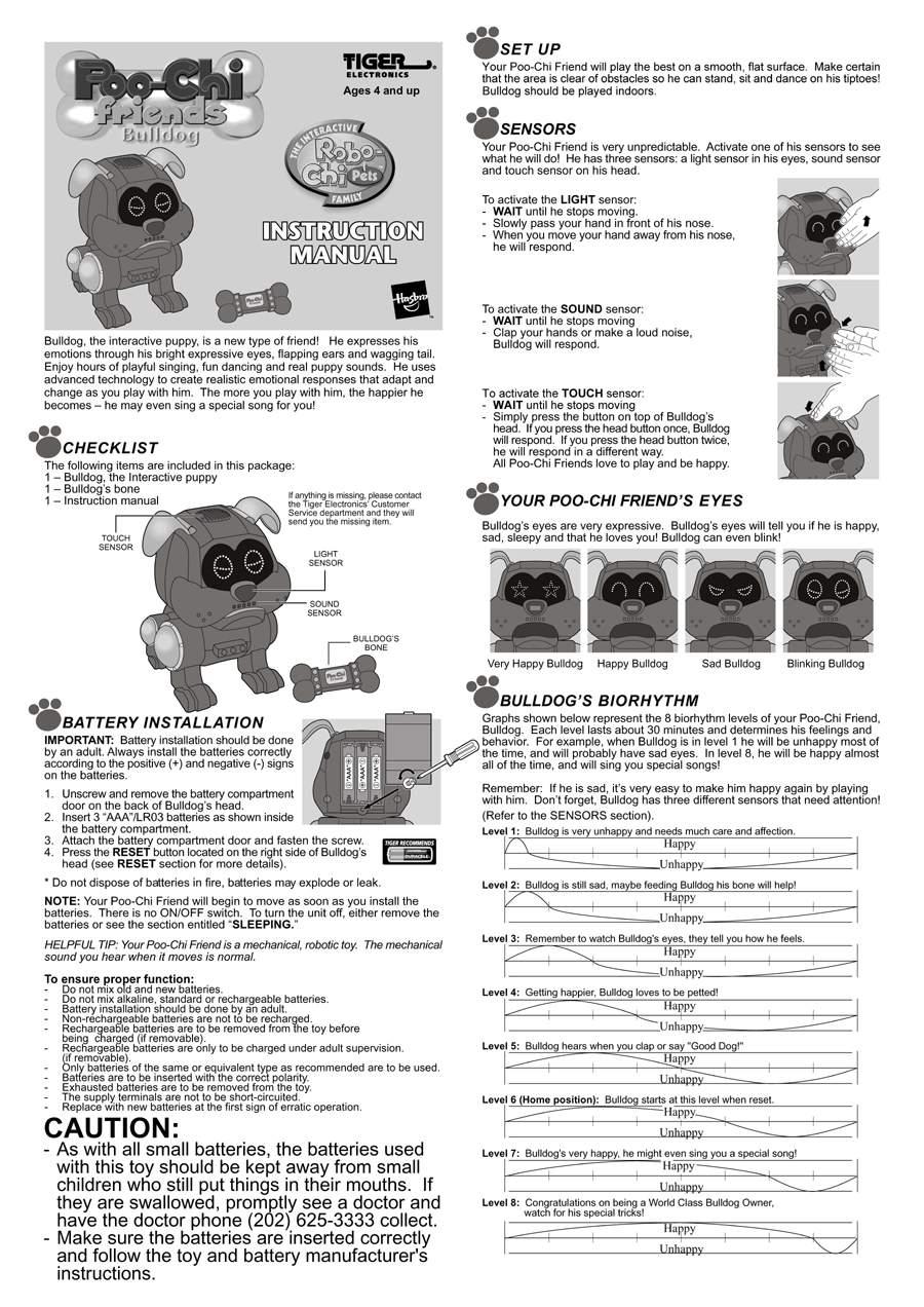pio chi robot dog by tiger electronics ltd the old robots web site rh theoldrobots com Tiger Silverlit Tiger Silverlit