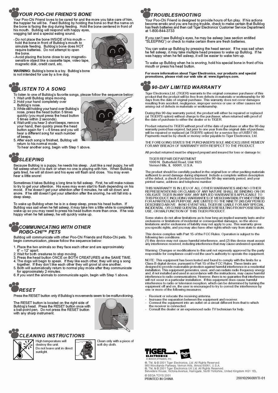 pio chi robot dog by tiger electronics ltd the old robots web site rh theoldrobots com Robot Tiger Silverlit Tiger Electronics