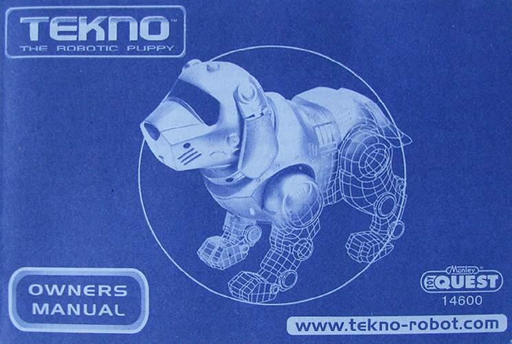robot puppy teksta