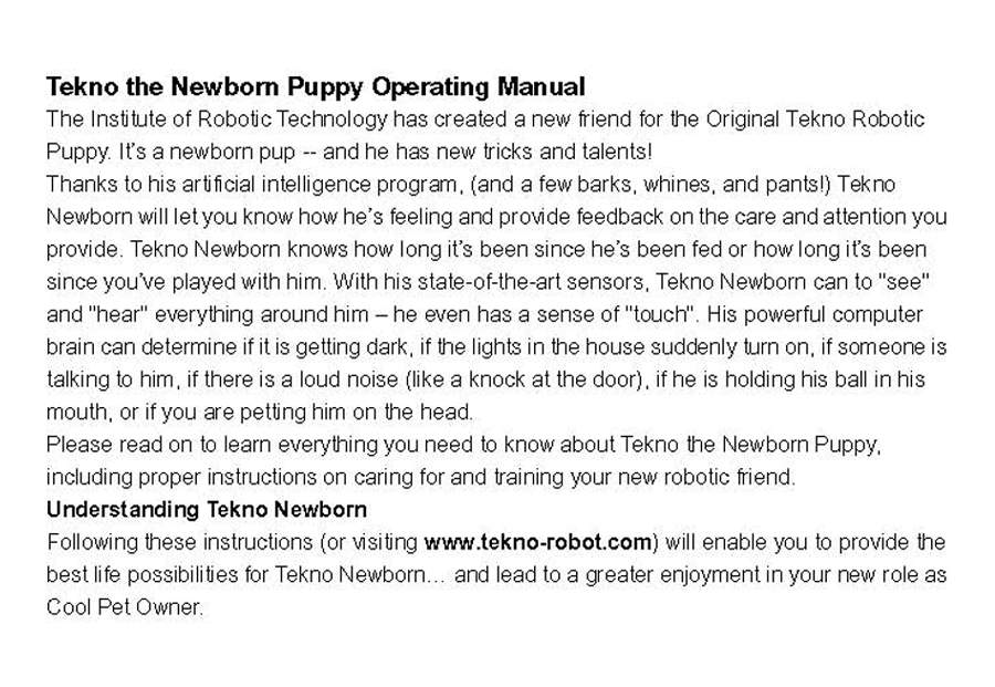 Search results for quot teksta tekno robot puppy app and instructions