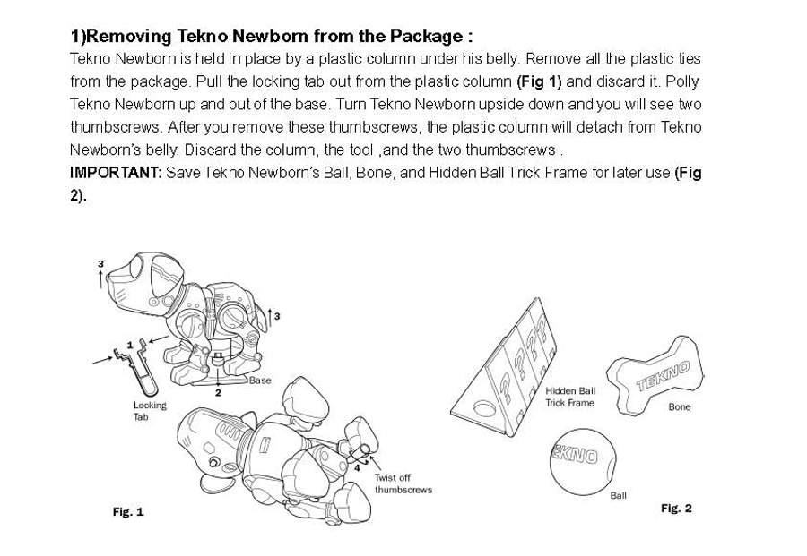 tekno dog instruction manual