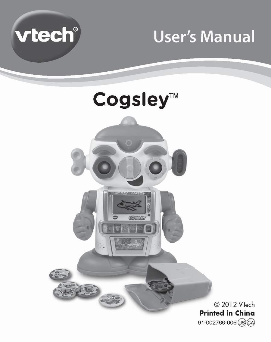 cogsley learning robot by vtech the old robots web site rh theoldrobots com YouTube VTech Robot Laptop Interactive Robot Toys