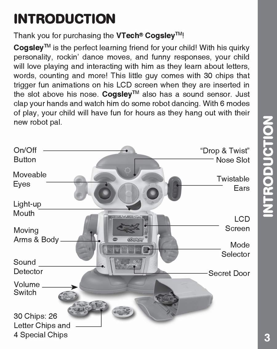 Cogsley Learning Robot Instruction Manual - My Collection: Copy