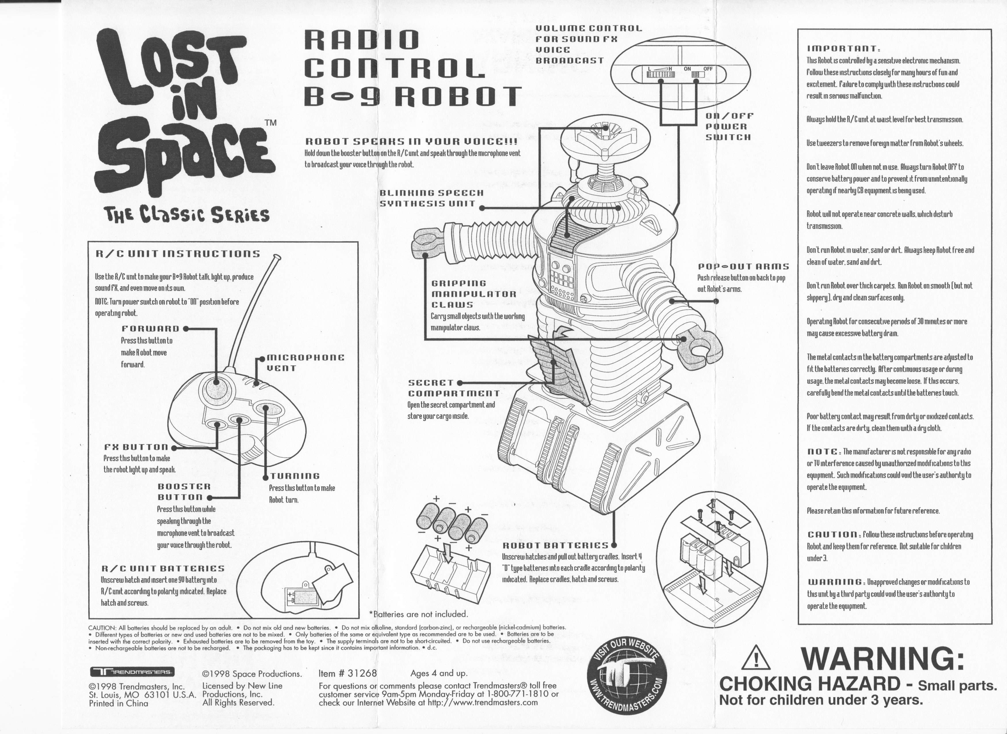 B9 Lost in Space Robot - The Old Robot's Web Site