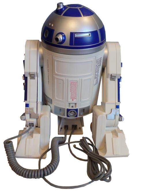 robo force telephone robot the old robots web site rh theoldrobots com R2-D2 and Android Wallpaper R2-D2 Droid Phone