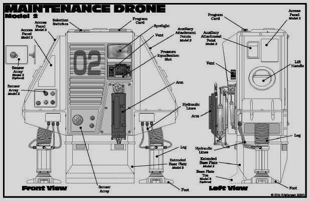 drone silent running robot