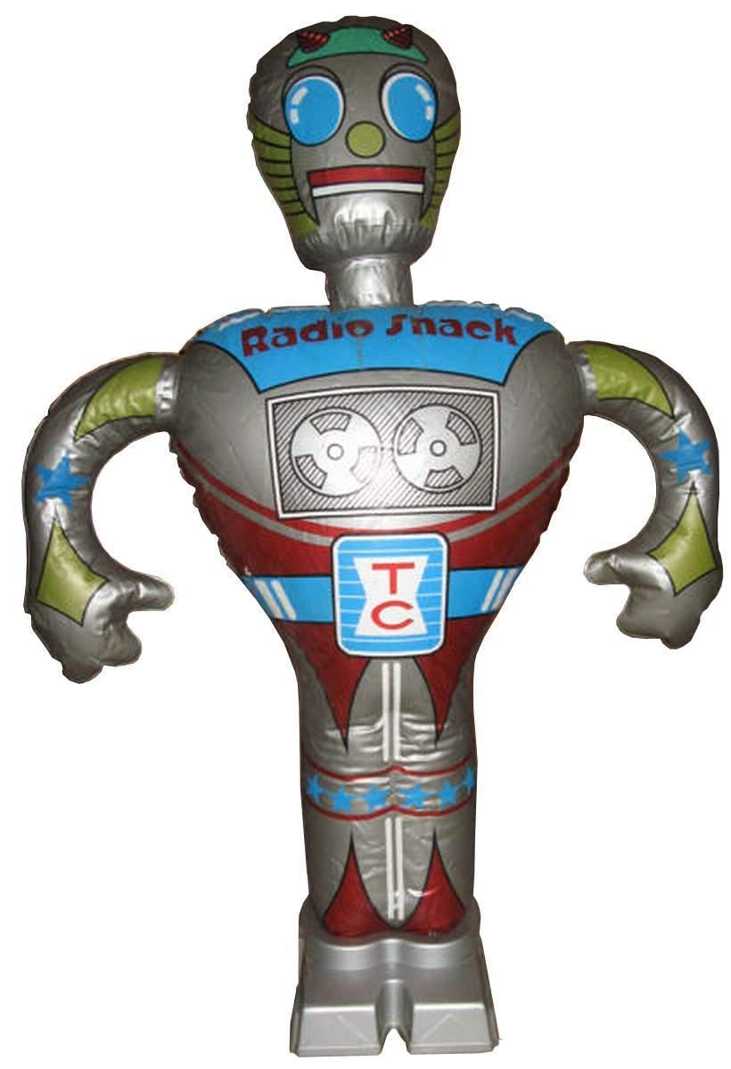 Inflatable Robot Radio Shack Amico Saturne Starman
