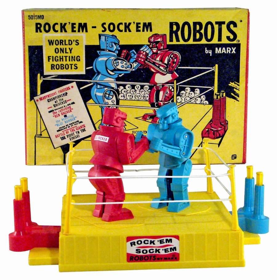 Vintage rock em sock em robots