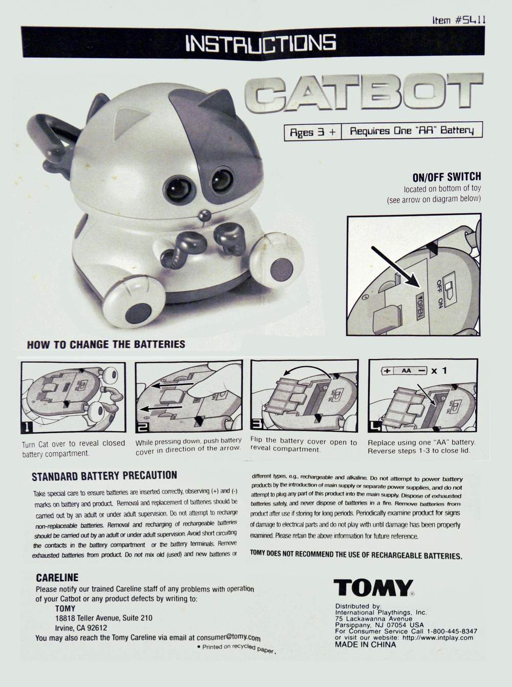 CatBot / Kitbot / NyankoRobot Instructions .pdf · Mr D.J. Robot Manual . ...