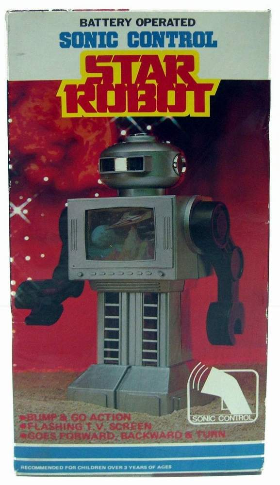 Sonic Control Musical Star Robot Part No 1045es The Old
