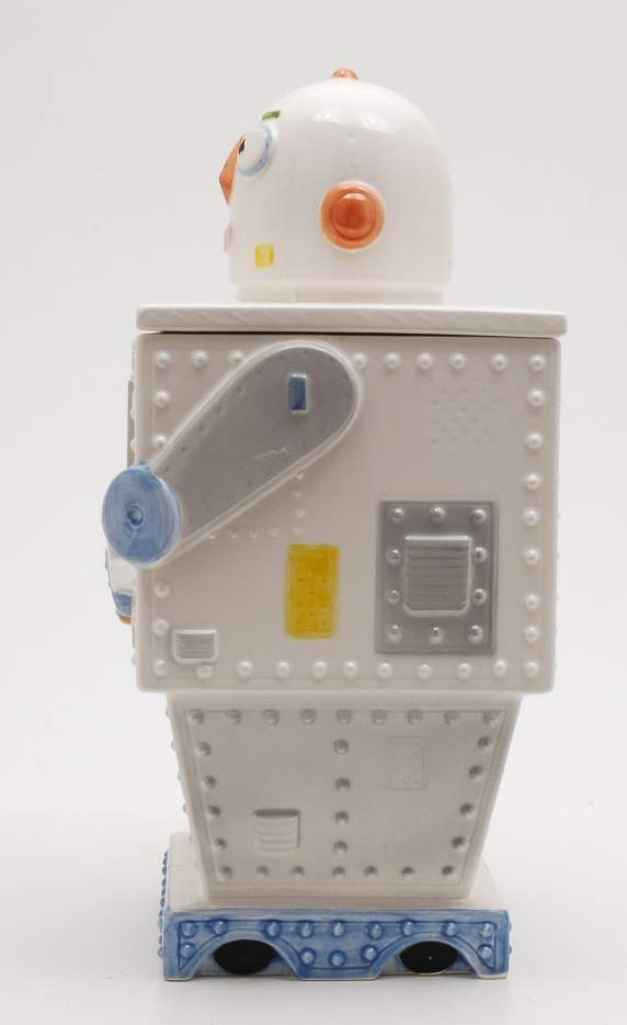 Ceramic Cookie Jar Robot